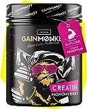 Original GAINMONKEY Creatin Monohydrat Pulver - Vegan und ohne Zusätze I 500g reines Creatine Monohydrate Pulver für Fitness Athleten die schon immer AFFENGEIL sein wollten