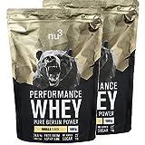 nu3 Performance Whey Protein - Vanilla Blend 2 kg Proteinpulver - Eiweißpulver mit guter Löslichkeit - 22,5 g Eiweiß je Shake - plus Whey Isolate & BCAA - Vanille Geschmack - gut für Muskelaufbau