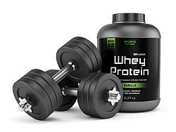 Whey Protein Pulver für Muskelaufbau und Diät